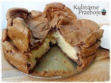 Karpatka czekoladowa z kremem waniliowym  Składniki      Składniki na ciasto ...