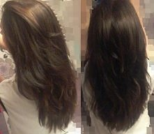 A oto moje włosy.Uwierzcie dziewczyny że jeszcze półtorej roku temu miałam cienkie i przerzedzone na dodatek bardzo zniszczone po trwałej i ciągłym prostowaniu.