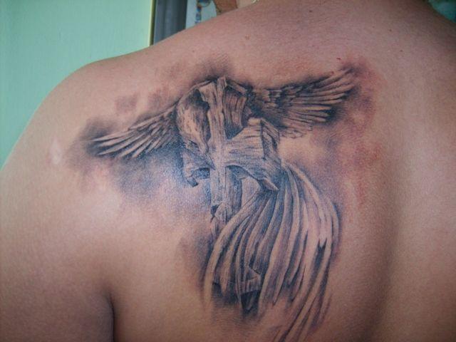 Feniks Na Krzyżu Tatuaż Na Plecach Na Tatuaże Zszywkapl