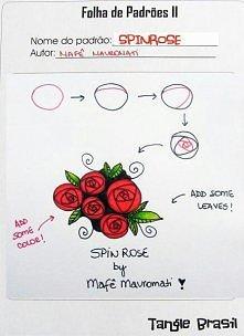 Rysunek różyczek krok po kr...
