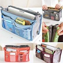 Organizer do torebki <3  Tak samo można wykorzystać dużą kosmetyczkę z przegrodkami.
