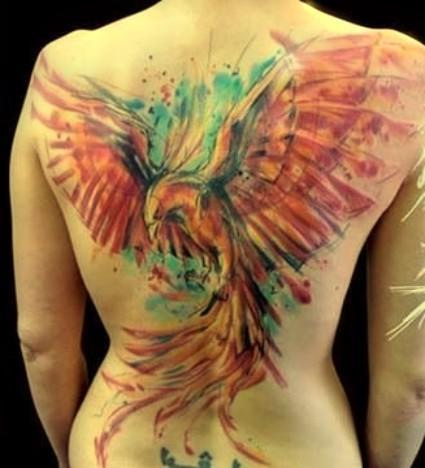 Feniks Tatuaż Na Plecach Na Tatuaże Zszywkapl