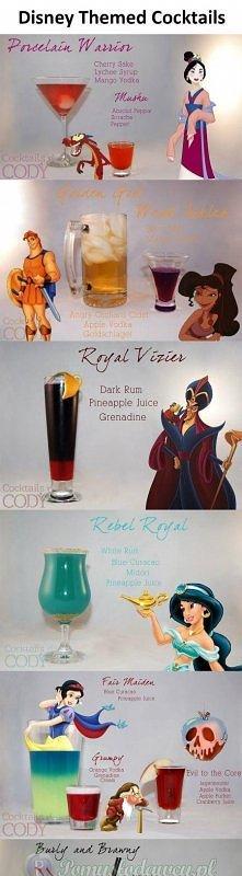 Drinki inspirowane bajkami disneya