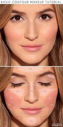 Konturowanie twarzy za pomocą makijażu ; ) Witajcie! Na dziś przygotowałyśmy ...