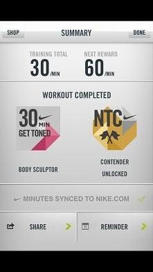 niby tylko 30 min, ale dało mi wycisk. aplikacja Nike Training Club