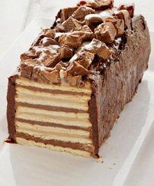 Snickers - bez pieczenia  Składniki : Masa : 1 szklanka mąki kukurydzianej, 1 szklanka cukru pudru, 5 szklanek mleka, 1 łyżeczka ekstraktu waniliowego, szczypta soli, 1 puszka m...