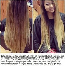 maseczka na zniszczone włosy