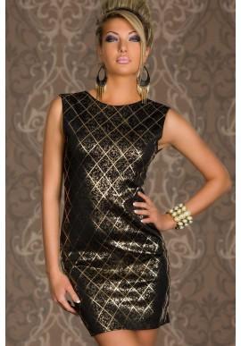 Czarna lśniąca sukienka  Błyszcząca kreacja podkreślająca smukła sylwetkę dla odważnych.
