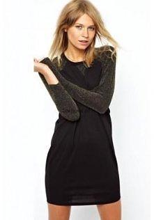Metaliczna czarna sukienka ...