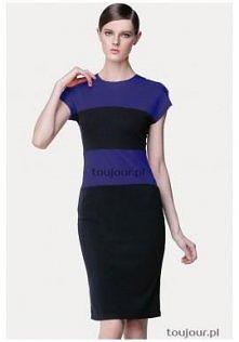 Ołówkowa sukienka z niebies...