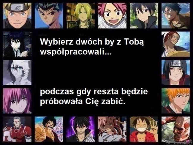 2 trudno wolałabym 3 :/ Lucy i Yuno i jeszcze ten 3 od lewej na dole z FT tylko nie pamiętam jak sie nazywa XD