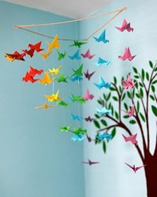 tęczowe origami ^^