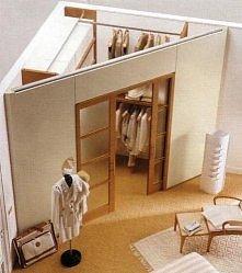 pomysł na wydzielenie garderoby