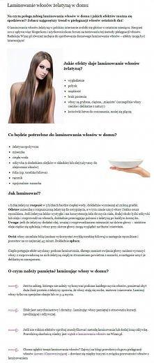 Laminowanie włosów żelatyną...