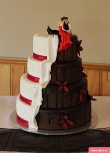 Świetny tort weselny ;)