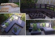 Balkonowe meble z palet