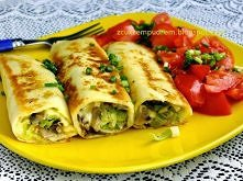 naleśniki z pieczarkami, żółtym serem i porem Po prostu przepyszny domowy obiad :) Kliknij w zdjęcie! :)