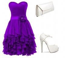 Violet party mini dress