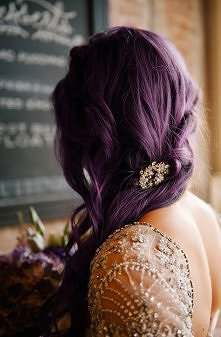 Pretty plum hair