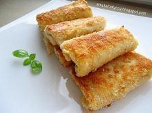 krokiety z pieczywa tostowego    Składniki: kromki chleba tostowego plasterki...