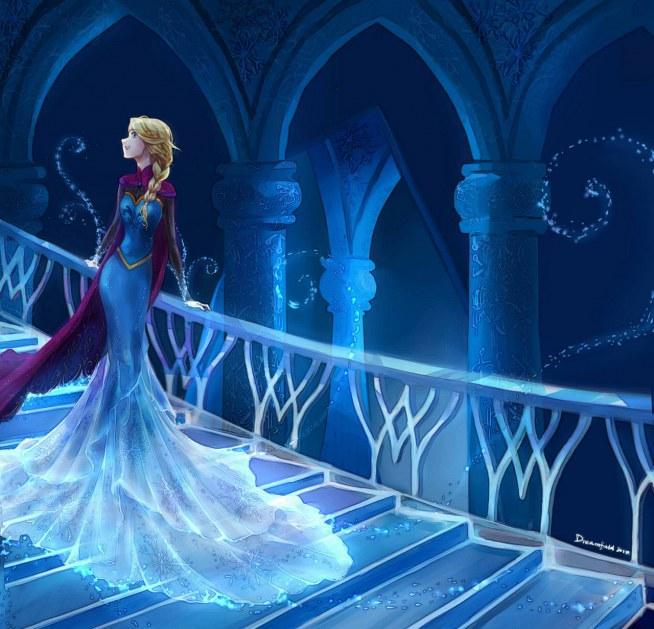 Elsa w lodowym pałacu