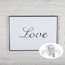 """Plakat na prezent ślubny """"Love, what's more? Grafika drukowana na wysokiej jakości, matowym papierze o gramaturze 230 g. Wymiary: 50×70. Plakat, świetnie nadaje się do pokoju dz..."""