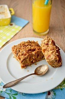Dietetyczne ciasto owsiane - bez tłuszczu i cukru Bogate w bakalie i niezwykl...