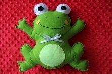 Filcowa maskotka handmade Więcej zdjęć na handmadeanddiy.blog.pl