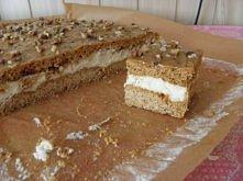 Ciasto karmelówka Ciasto: 0,5 kg mąki pszennej 2 całe jajka cukier waniliowy 1 łyżeczka sody oczyszczonej 2 łyżki miodu 1/2 szklanki cukru 1/2 kostki margaryny (125 g) Masa: 600...