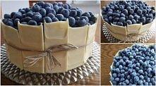 tort z borówkami i białą czekoladą