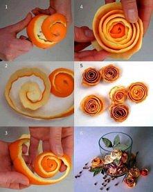 Różyczki z pomarańczy