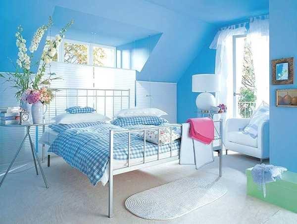 Niebieska Sypialnia Na Wnętrza Moich Marzeń Zszywkapl