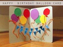 Balonowa kartka urodzinowa