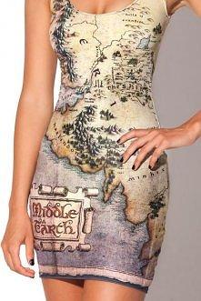 Sukienka- mapa Śródziemia