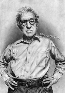 Jak by ktoś nie poznał...Woody Allen :) format A3, ołówki Zapraszam na mój pr...