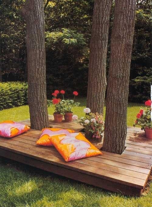 ława do siedzenia - tylko muszę poczekać aż drzewa urosną i mogę taka zrobić:)