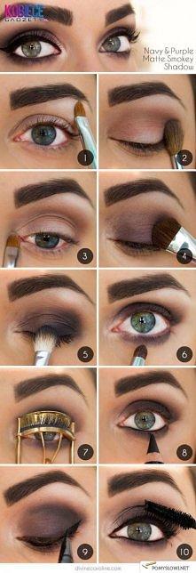 Grafitowo-purpurowe oko