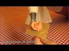 Róża z masy. Dekoracja ciast.