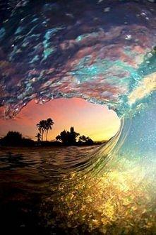 Zachód słońca nad wodą :)