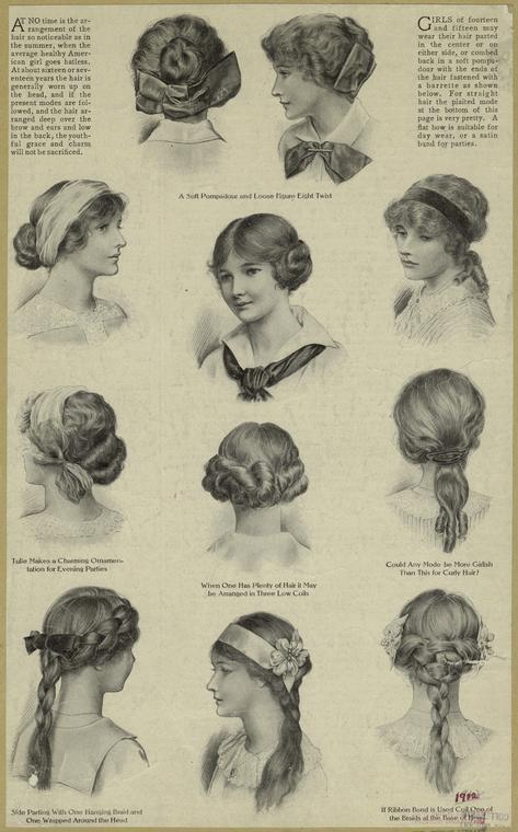 upięcia dla nastolatek z lat 1910