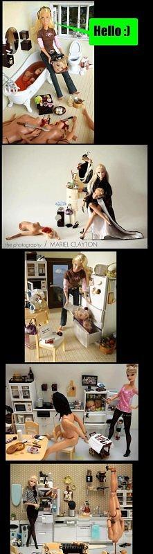 ciemna strona barbie :D