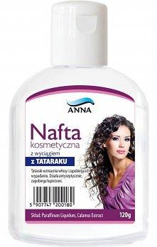 Płukanka z naftą kosmetyczną na błyszczące i miękkie włosy 0.5l letniej wody ...