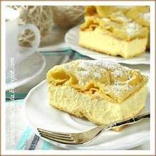 Ciasto: 1 szklanka wody 1 szklanka mąki (170g) 1/2 kostki do pieczenia Kasia (125g) 5 jajek 1 łyżeczka proszku do pieczenia szczypta soli Krem: 1 litr mleka 1 szklanka cukru (25...