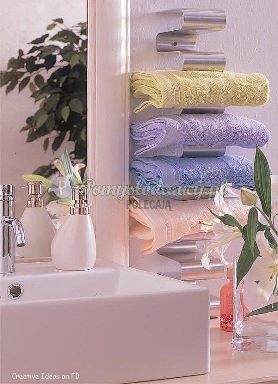 Półka Na Ręczniki Do łazienki Z Giętej Blachy Na Pomysły