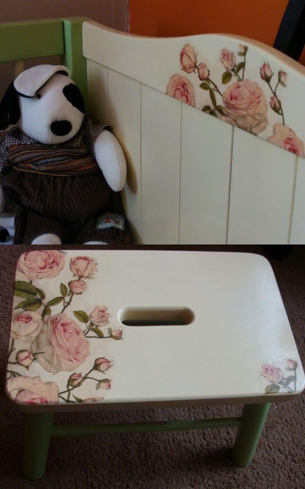 decoupage eczko dla dziecka i sto eczek na diy. Black Bedroom Furniture Sets. Home Design Ideas