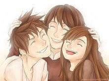 z mamą i siostrą
