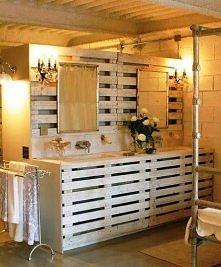Łazienka z dodatkiem palet