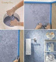 Oryginalny sposób na pomalowanie ściany...