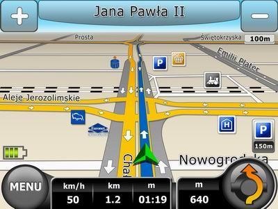screen z nawigacji
