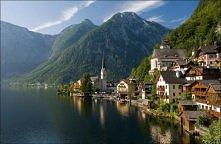 Przepiękna austriacka wioska.  Hallstatt